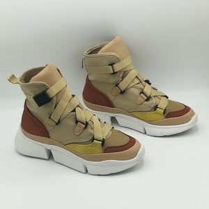 Cape Robbin Superstar High Top Colorful Sneakers